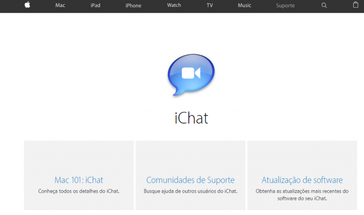 ichat - atendimento online apple