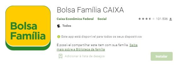 App Android Do Bolsa Família Para Verificar Saldo No Celular / Fonte: Google Play