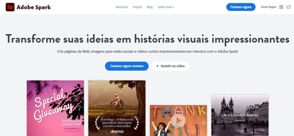 App Para Criar Convites / Fonte: Captura de Tela do Site Oficial