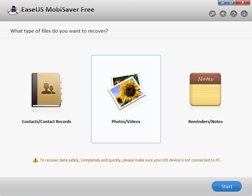 Aplicativo iOS Para Restaurar Arquivos Apagados Do iPhone / Fonte: Captura de Tela do Site do Aplicativo Oficial