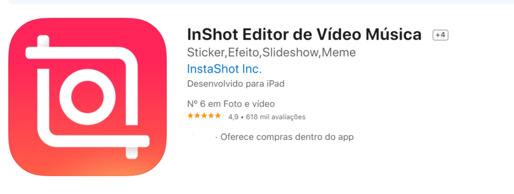 InShot Fonte App Store