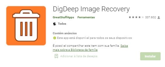 App Android Para Recuperar Arquivos Apagados Do Celular / Fonte: Google Play
